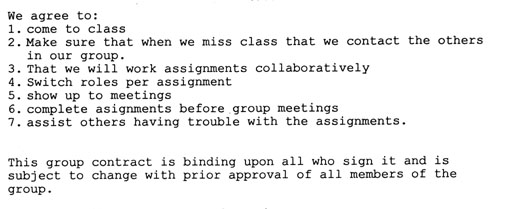Sample Group Contract