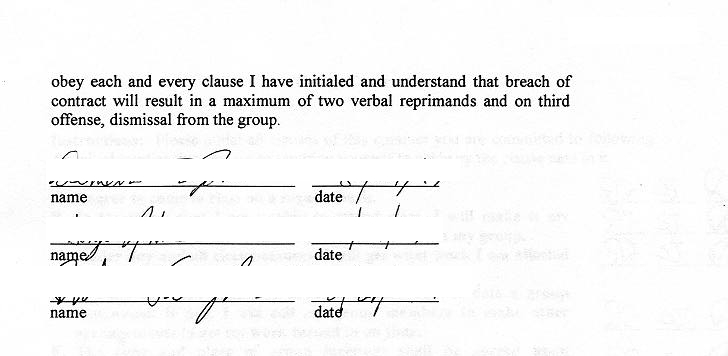Sample group contract for B b contract